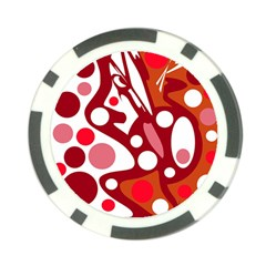 Red and white decor Poker Chip Card Guards (10 pack)