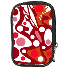 Red and white decor Compact Camera Cases