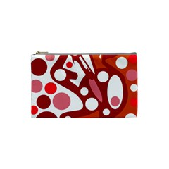 Red and white decor Cosmetic Bag (Small)