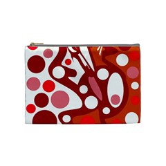 Red and white decor Cosmetic Bag (Medium)