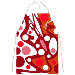 Red and white decor Full Print Aprons
