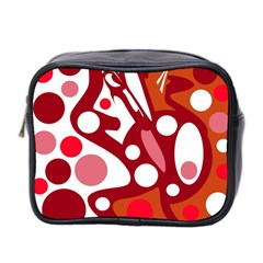 Red and white decor Mini Toiletries Bag 2-Side