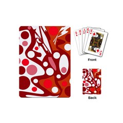 Red and white decor Playing Cards (Mini)
