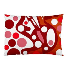 Red And White Decor Pillow Case (two Sides)