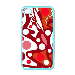 Red and white decor Apple iPhone 4 Case (Color)