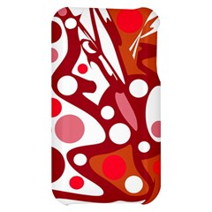 Red and white decor Apple iPhone 3G/3GS Hardshell Case