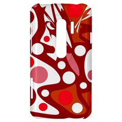 Red and white decor HTC Evo 3D Hardshell Case