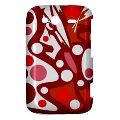 Red and white decor HTC Wildfire S A510e Hardshell Case
