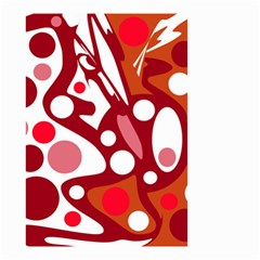 Red and white decor Small Garden Flag (Two Sides)