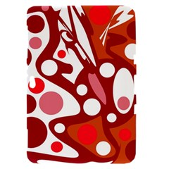 Red and white decor Samsung Galaxy Tab 8.9  P7300 Hardshell Case