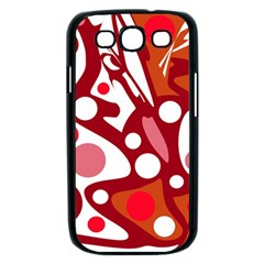 Red and white decor Samsung Galaxy S III Case (Black)