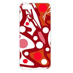Red and white decor Apple iPhone 5 Seamless Case (White)