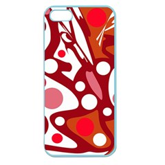 Red and white decor Apple Seamless iPhone 5 Case (Color)