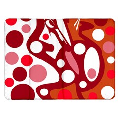 Red and white decor Kindle Fire (1st Gen) Flip Case