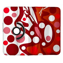 Red and white decor Samsung Galaxy Note II Flip 360 Case