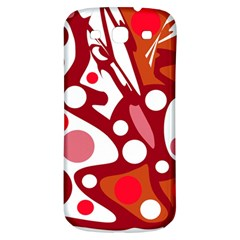 Red and white decor Samsung Galaxy S3 S III Classic Hardshell Back Case
