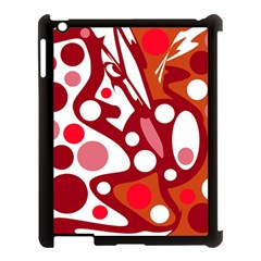 Red and white decor Apple iPad 3/4 Case (Black)