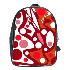 Red and white decor School Bags (XL)