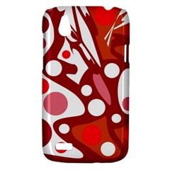 Red and white decor HTC Desire V (T328W) Hardshell Case