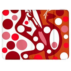Red and white decor Samsung Galaxy Tab 7  P1000 Flip Case