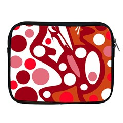 Red and white decor Apple iPad 2/3/4 Zipper Cases