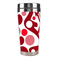 Red and white decor Stainless Steel Travel Tumblers