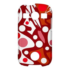 Red and white decor Samsung Galaxy S7710 Xcover 2 Hardshell Case