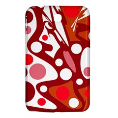 Red and white decor Samsung Galaxy Tab 3 (7 ) P3200 Hardshell Case