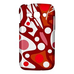 Red and white decor Samsung Galaxy Ace 3 S7272 Hardshell Case