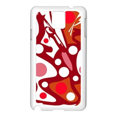 Red and white decor Samsung Galaxy Note 3 N9005 Case (White)