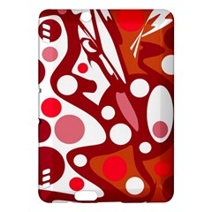 Red and white decor Kindle Fire HDX Hardshell Case