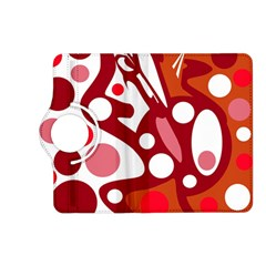 Red and white decor Kindle Fire HD (2013) Flip 360 Case