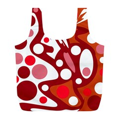 Red and white decor Full Print Recycle Bags (L)