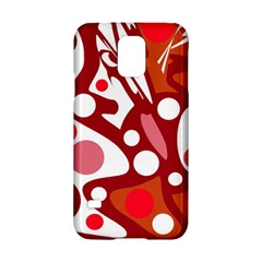 Red and white decor Samsung Galaxy S5 Hardshell Case