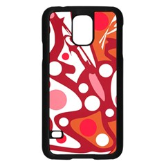 Red and white decor Samsung Galaxy S5 Case (Black)