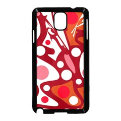 Red and white decor Samsung Galaxy Note 3 Neo Hardshell Case (Black)
