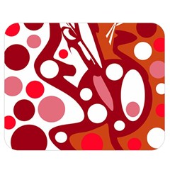 Red and white decor Double Sided Flano Blanket (Medium)