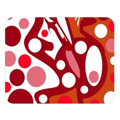 Red and white decor Double Sided Flano Blanket (Large)