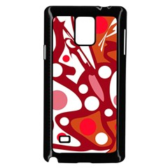 Red and white decor Samsung Galaxy Note 4 Case (Black)