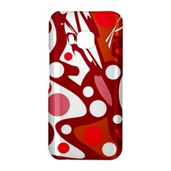 Red and white decor HTC One M9 Hardshell Case