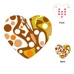 Orange and white decor Playing Cards (Heart)