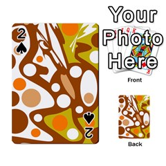 Orange And White Decor Playing Cards 54 Designs