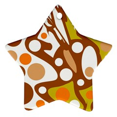 Orange and white decor Star Ornament (Two Sides)