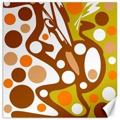 Orange and white decor Canvas 12  x 12