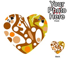 Orange and white decor Playing Cards 54 (Heart)