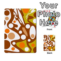 Orange And White Decor Multi Purpose Cards (rectangle)