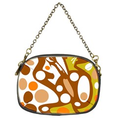 Orange and white decor Chain Purses (Two Sides)