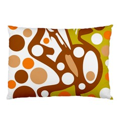 Orange and white decor Pillow Case