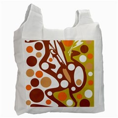Orange and white decor Recycle Bag (Two Side)