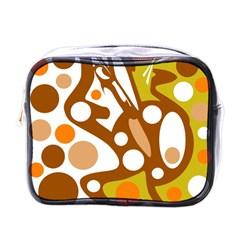 Orange and white decor Mini Toiletries Bags